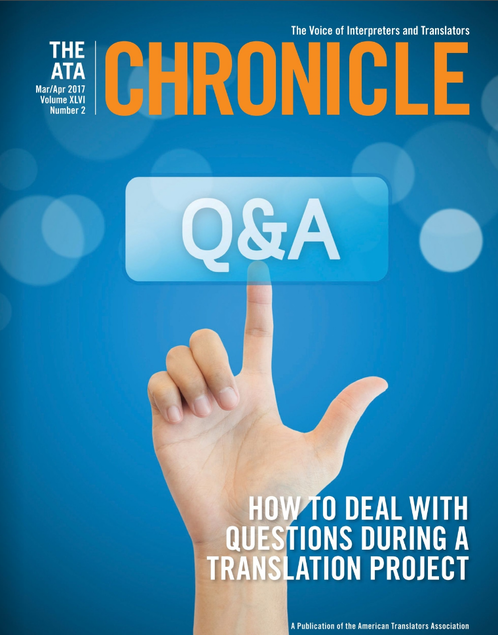 The ATA Chronicle cover
